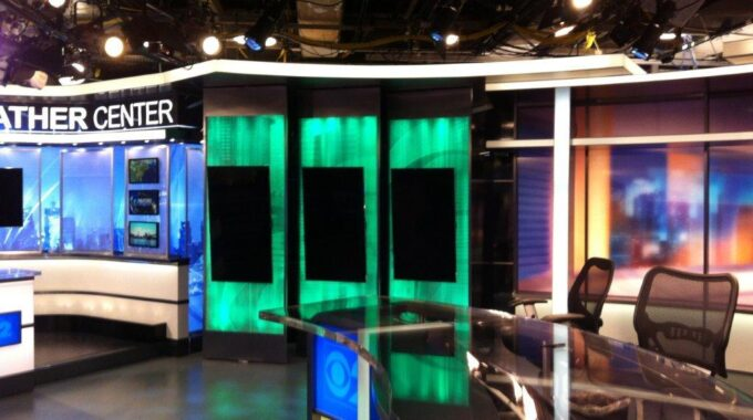 The Black Tank Fixtures Provide Coverage For CBS News